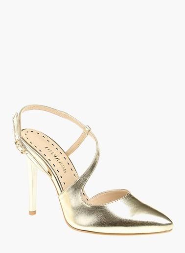Divarese İnce Topuklu Ayakkabı Altın